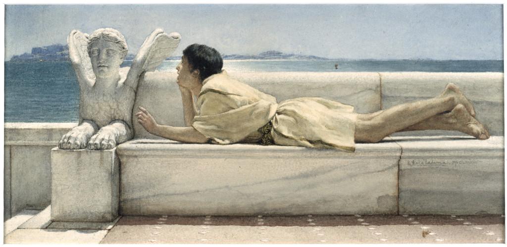 Lourens Alma Tadema (1836-1912), De zwijgende raadsman, 1878, aquarel, 14,4 x 30,5 cm, particuliere collectie, langdurig bruikleen aan Van Gogh Museum Amsterdam
