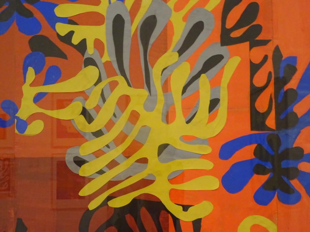 Henri Matisse, Mimosa, 1949-1951, ontwerp voor tapijt, collectie Ikeda Museum of 20th Century Art, Ito, detail, eigen foto