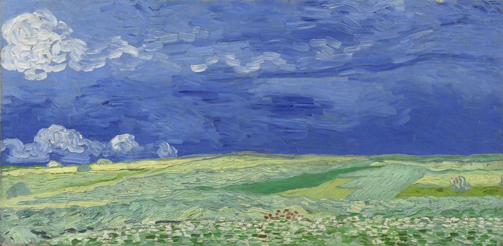 Korenveld met onweerslucht, Vincent van Gogh, 1890, foto Van Gogh Museum