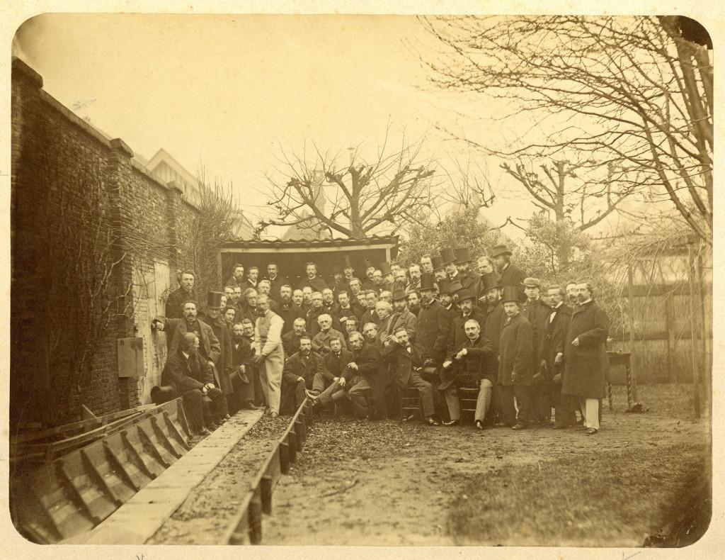 Maurits Verveer, Groepsportret van werkende leden van Pulchri, 1867, Haags Gemeentearchief