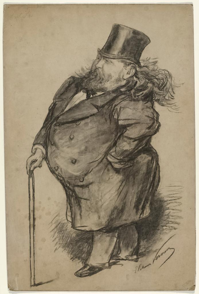 Elchanon Verveer, Karikatuurportret Jacob Maris, 1870-1899, Rijksprentenkabinet, Amsterdam