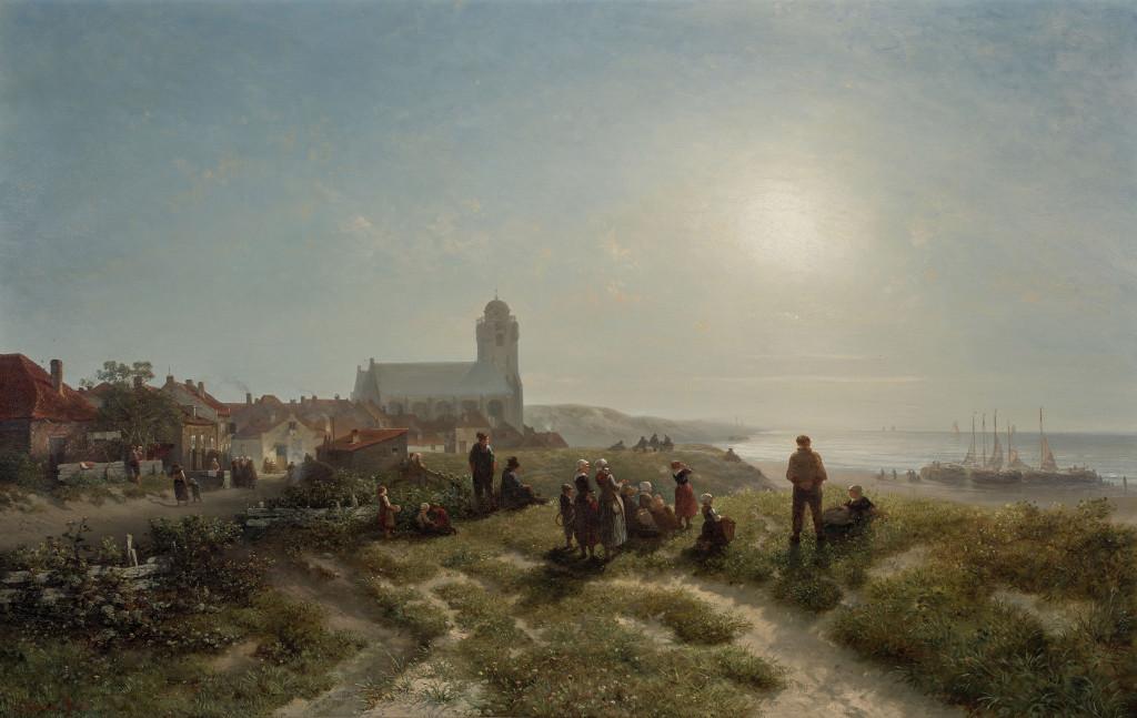 Salomon Verveer, Een namiddag te Katwijk aan zee, 1836, Museum Boijmans van Beuningen, Rotterdam