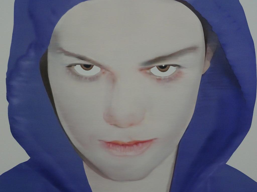 Katinka Lampe, Zonder titel, 2007, olieverf op doek, detail, eigen foto