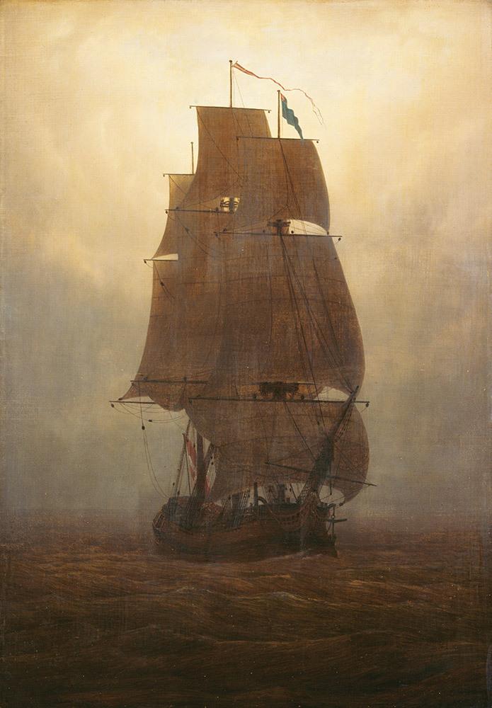 Caspar David Friedrich, Segelschiff, ca 1815, Kunstsammlungen Chemnitz