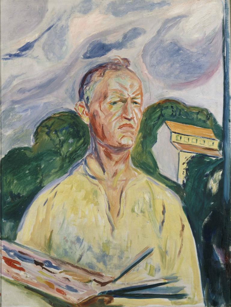 Edvard Munch, Zelfportret met palet, 1926, privécollectie, foto Van Gogh Museum