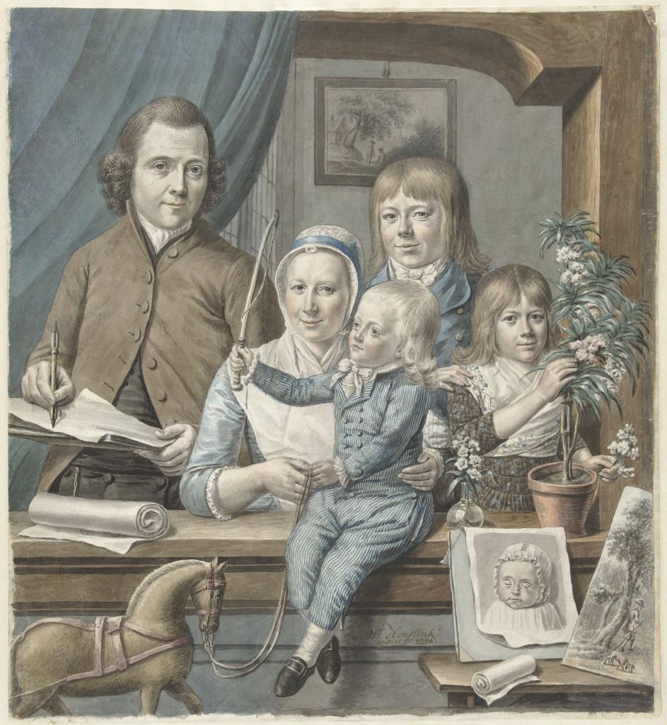 Warner Horstink, De kunstenaar zelf en zijn gezin, 1796, foto Rijksmuseum