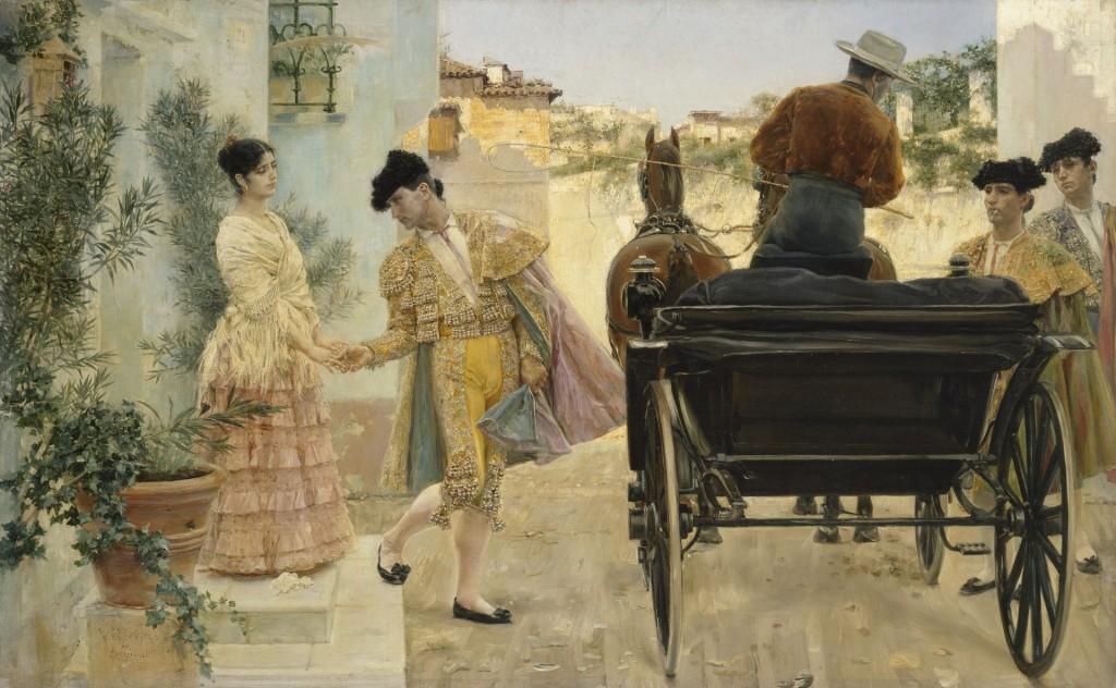 José Villegas Cordero, Het afscheid van de torero, 1889, c State Hermitage Museum, St Petersburg