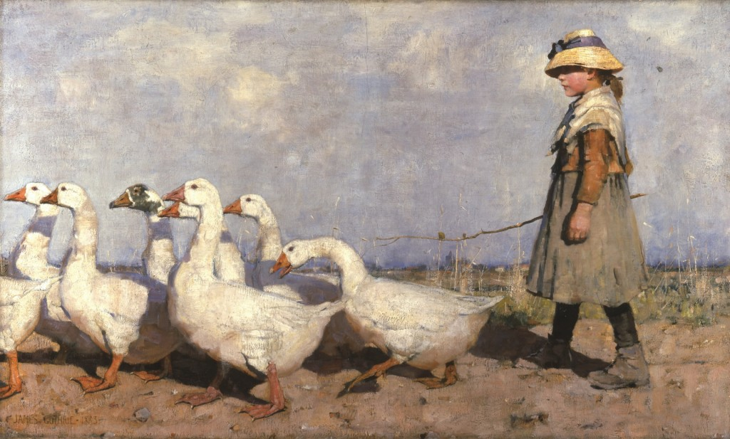 Naar een nieuwe weide, 1883, Sir James Guthrie Aberdeen Art Gallery and Museums Collection