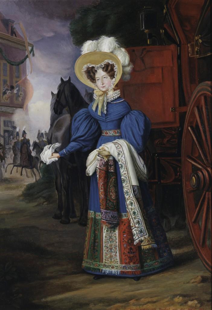 Portret Anna Paulowna door Jan Baptist van der Hulst, 1831, foto Paleis Het Loo