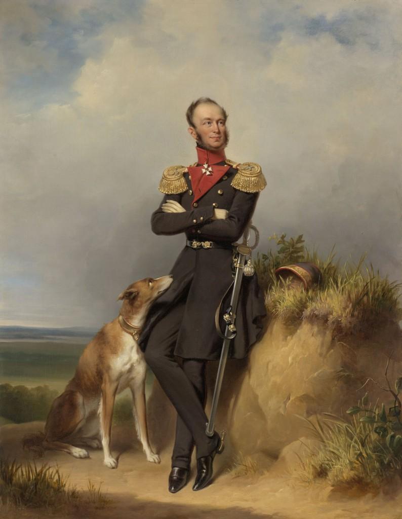 Portret van haar echtgenoot, een jaar later koning Willem II, Jan Adam Kruseman, 1839, foto Rijksmuseum