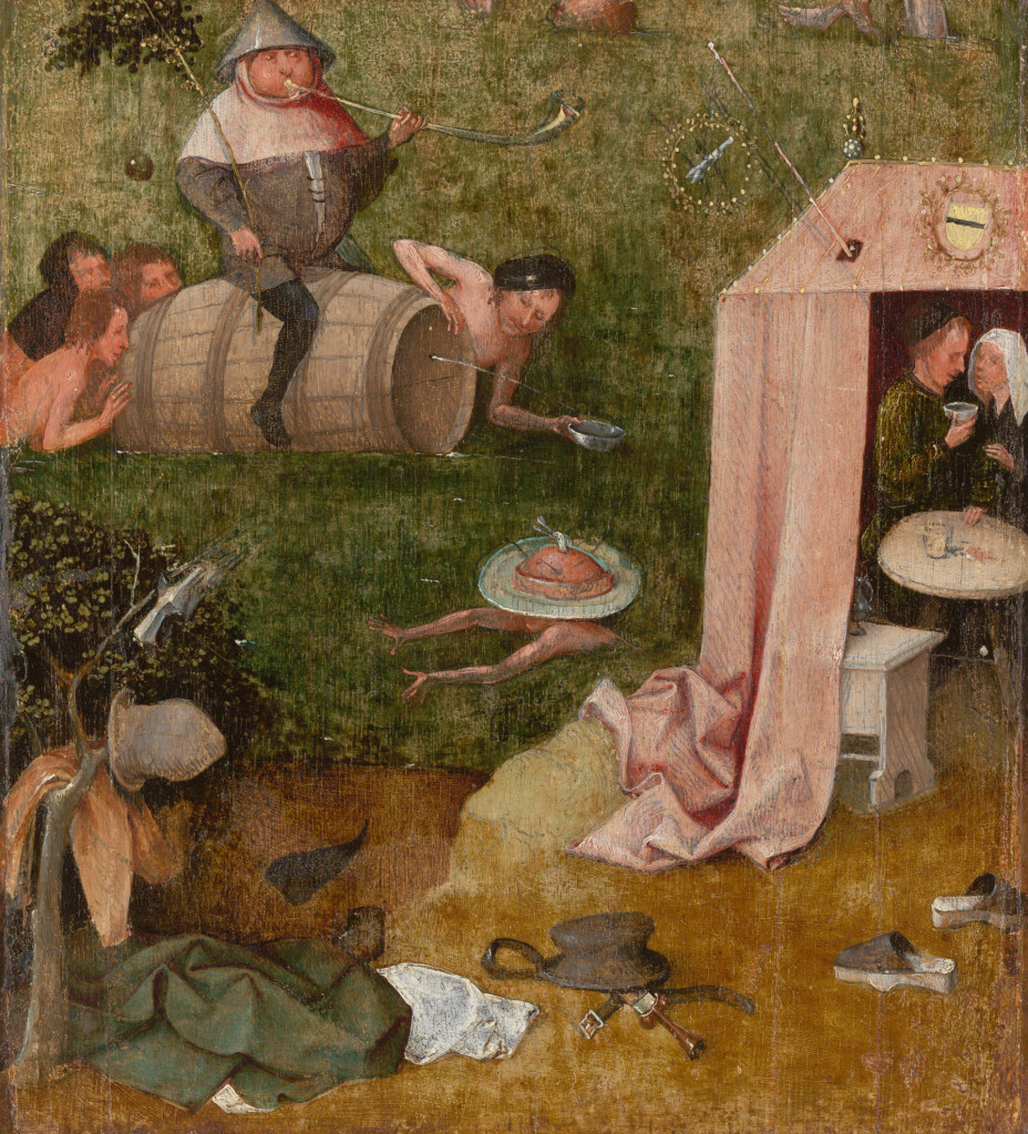 Jheronimus Bosch, Gulzigheid en lust (fragment van Het Narrenschip), ca. 1500-10, Yale University Art Gallery, credits foto Rik Klein en beeldverwerking Robert G. Erdmann voor het Bosch Research and Conservation Project