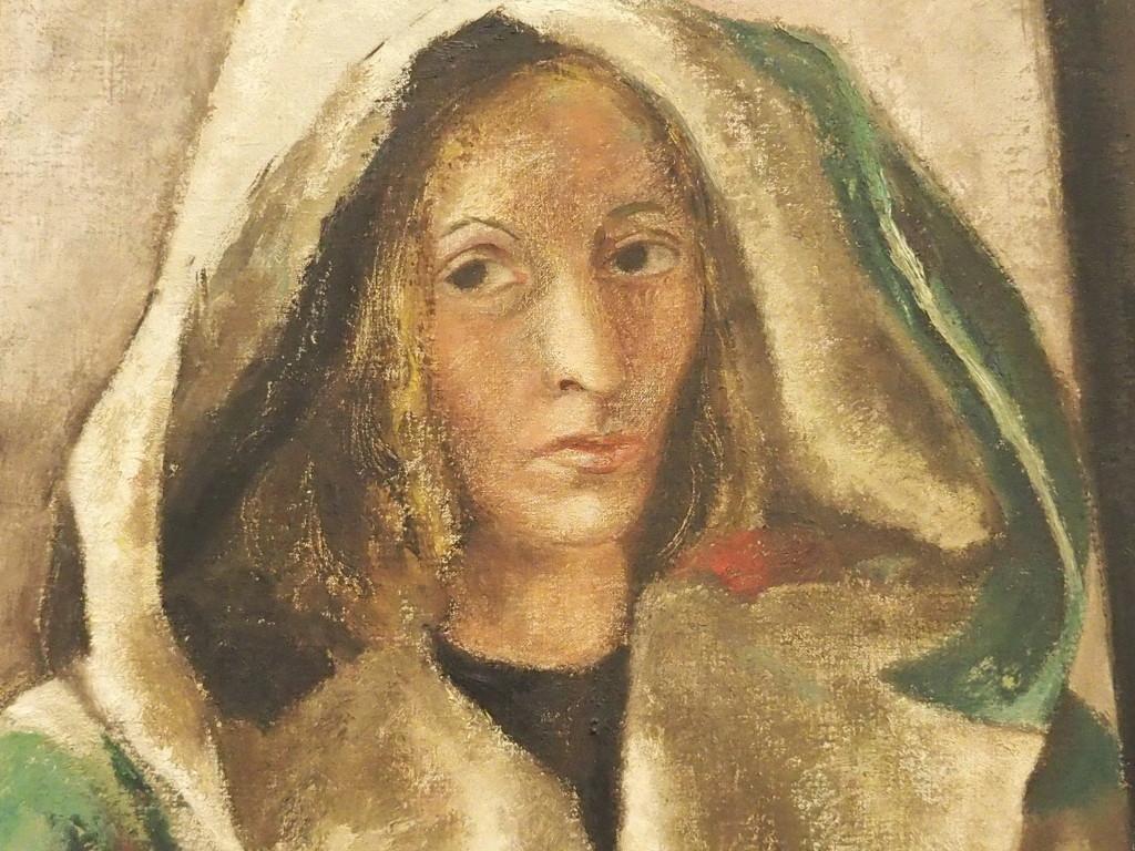 Zelfportret Gisèle van Waterschoot van der Gracht, 1948, detail, eigen foto