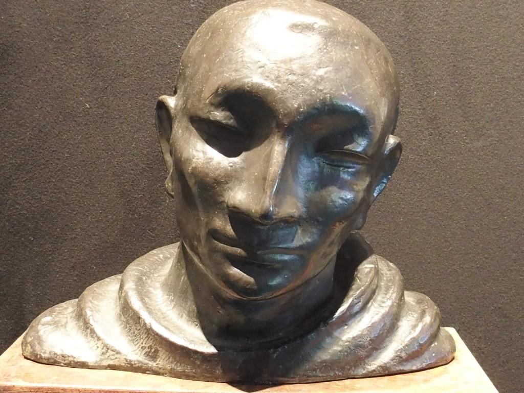 John Raedecker (1885-1956), Monniks kop, 1924, brons, Kunsthandel Dolf D. van Omme, eigen foto