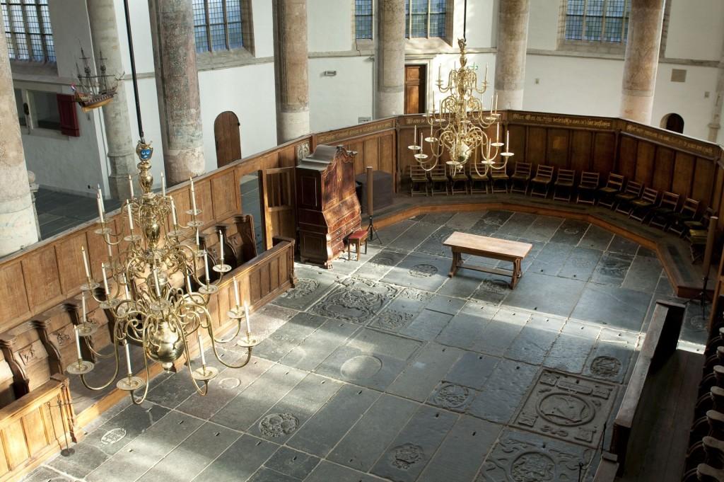 Koorgedeelte Oude Kerk, foto Piet Musters