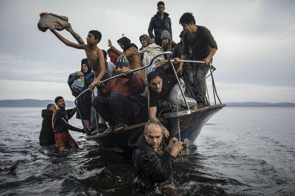 Sergey Ponomarev, Rusland, voor The New York Times, 1ste prijs Reportage. Vluchtelingen arriveren op Lesbos