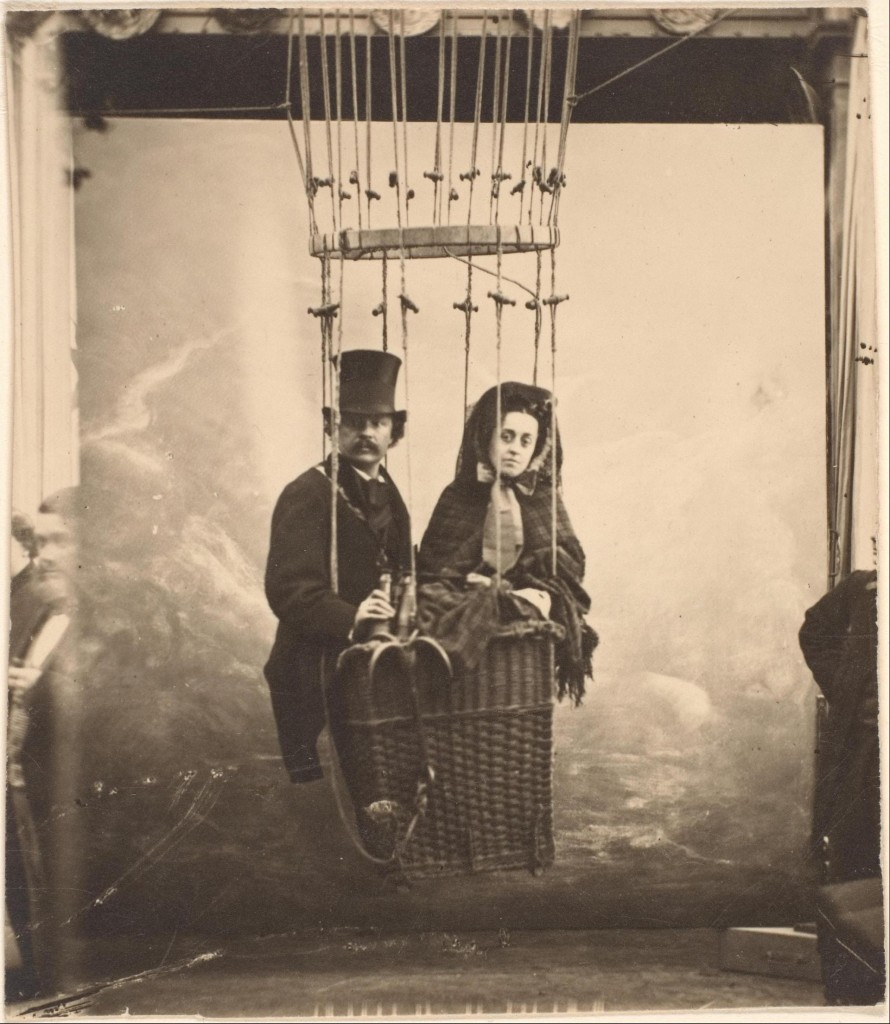 Nadar, Nadar en zijn vrouw Ernestine in een luchtballon, ca. 1865, collectie Metropolitan Museum New York, Gilman Collection
