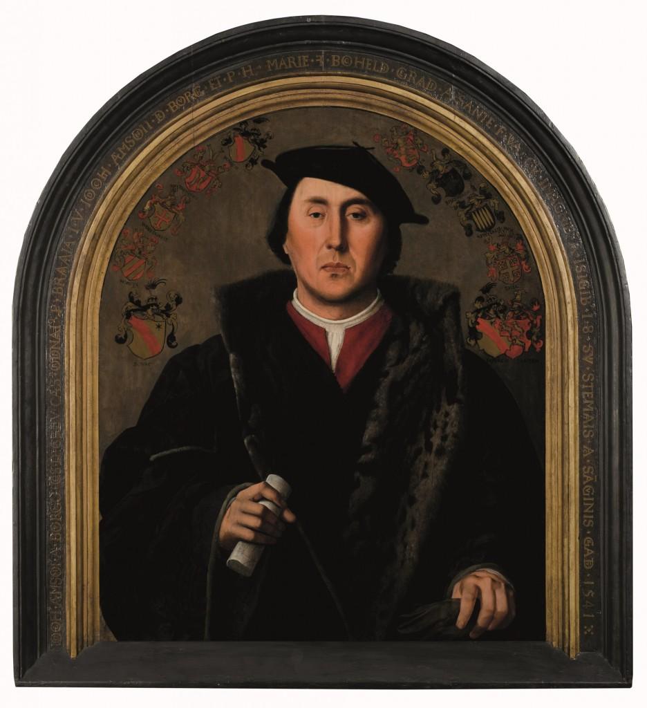 Jan Cornelisz Vermeyen, Portret van Jodocus Aemszoon van der Burch, 1541, olieverf op paneel