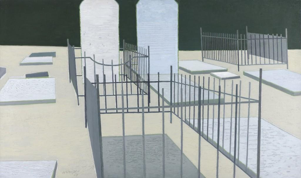 Rein Draijer, Begraafplaats, 1959, collectie Haags Gemeentemuseum, foto Museum More 98 x 165 cm