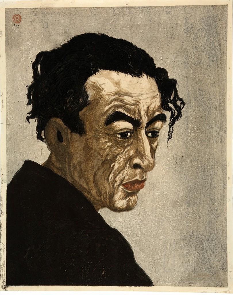 Portret van Hagiwara Sakutaro, Onchi Konshiro (1891-1955), foto Rijksmuseum