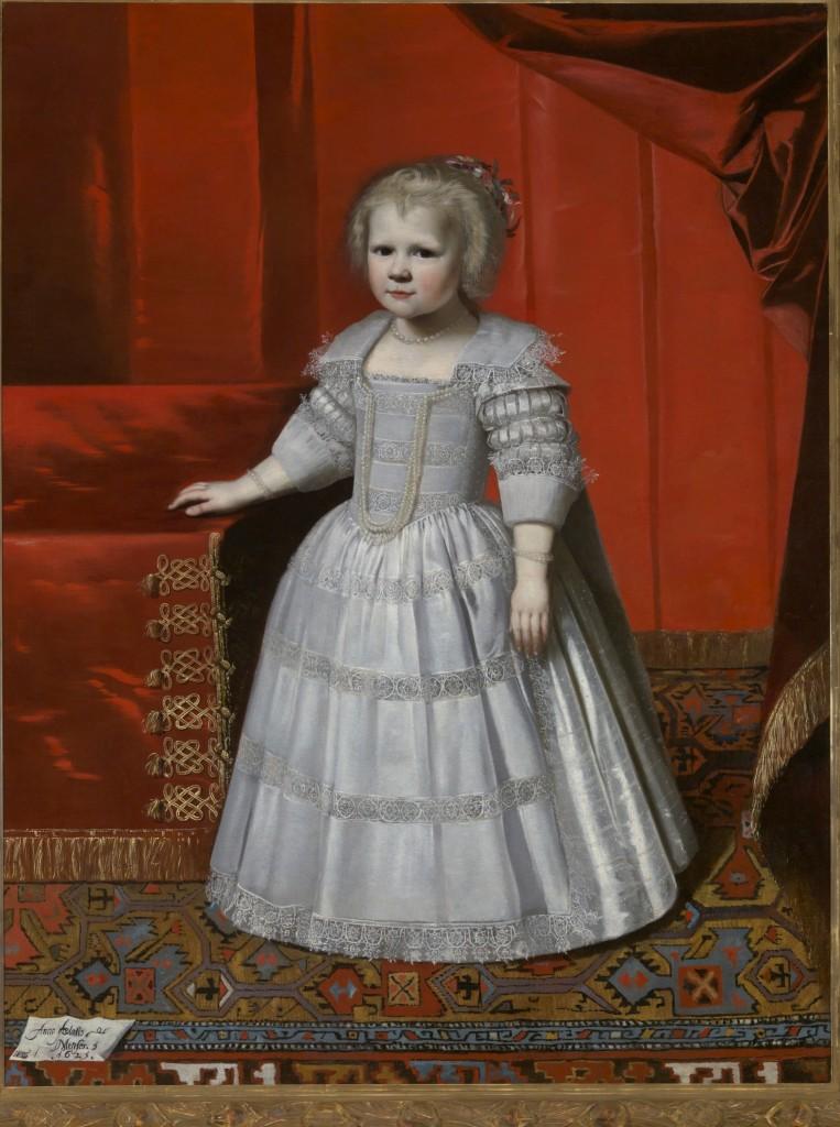 Portret van Elisabeth Friso, gravin van Nassau-Dietz, Wybrand de Geest, 1625, olieverf, Koninklijke Verzamelingen Den Haag