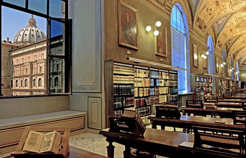 Interieur Vaticaanse bilbiotheek, foto ter beschikking gesteld door het Joods Historisch Museum