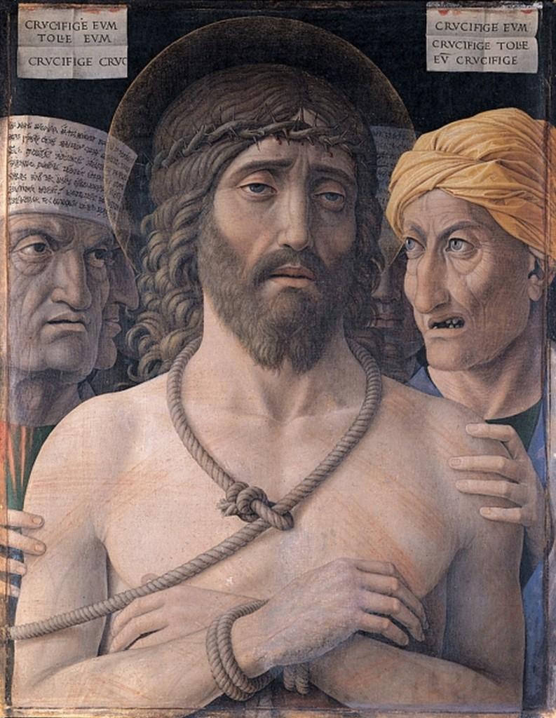 Andrea Mantegna (c. 1431-1506), Ecce Homo,ca. 1500, collectie Musée Jacquemart-André, Parijs
