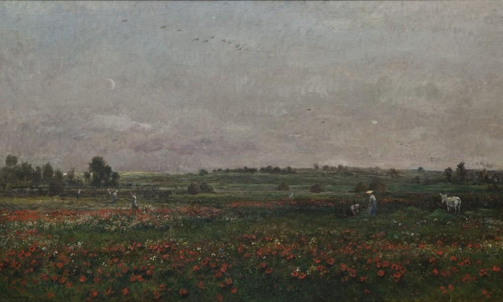 Charles François Daubigny, Velden in juni, 1874, Herbert F. Johnson Museum of Art, Cornell University, Ithaca, New York, schenking Louis V. Keeler, Class of 1911 end mrs Keeler, foto Van Gogh Museum