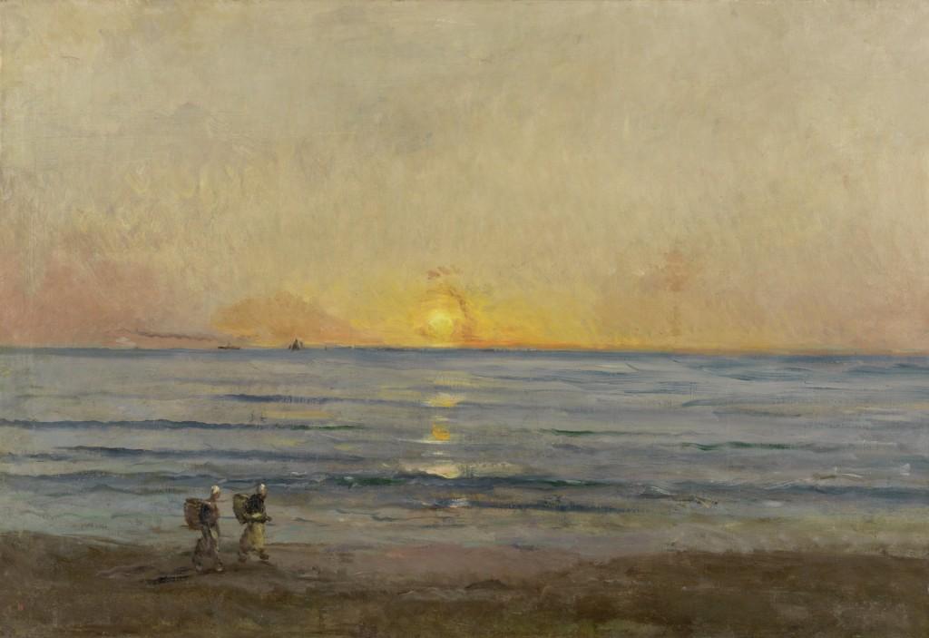Charles François Daubigny, Ondergaande zon bij Villerville, c. 1876, De Mesdag Collectie, Den Haag, foto Van Gogh Museum