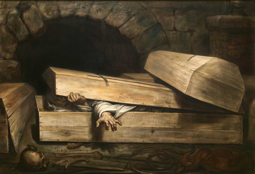 Antoine Wierts, De overhaaste begrafenis, 1854, foto Wiertz Museum, Brussel