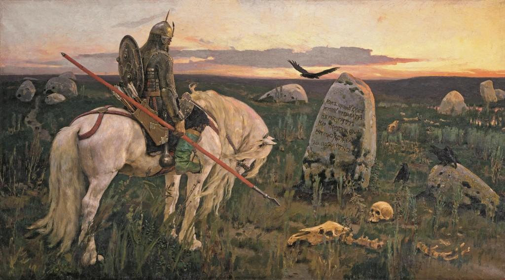 Viktor Vasnetsov (1848-1926), Ridder op driesprong, 1882, olieverf op doek, collectie Staats Russisch Museum, St. Petersburg