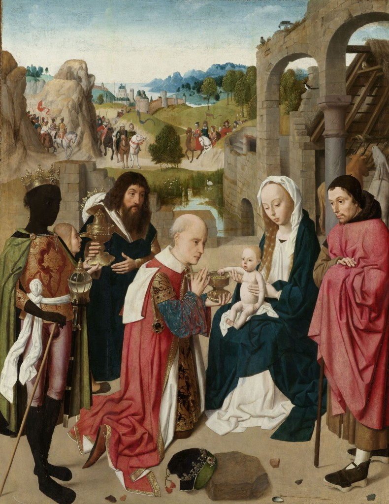 Geertgen tot Sint Jans, Aanbidding van de koningen, foto Rijksmuseum Amsterdam