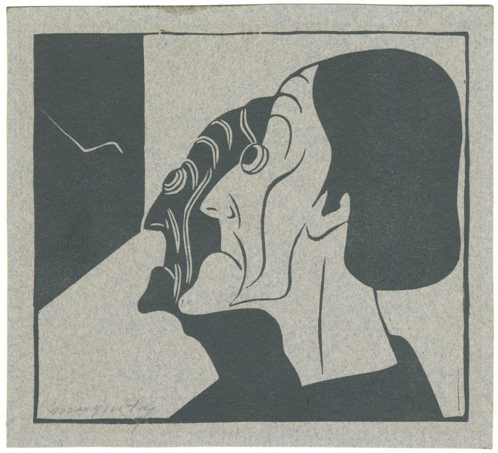 Samuel Jessurun de Mesquita, Sensitivistische verbeelding, houtsnede op Ingres-papier, 1914, collectie Joods Historisch Museum