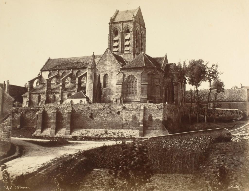 Édouard Baldus, Église d'Áuvers, Chemin de Fer du Nord 1855, courtesy George Eastman Museum Rochester NY
