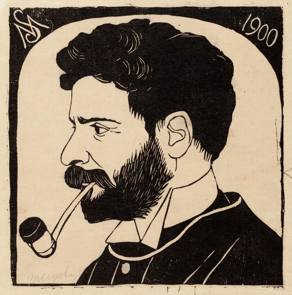 Samuel Jessurun de Mesquita, Zelfportret met pijp, collectie Joods Historisch Museum