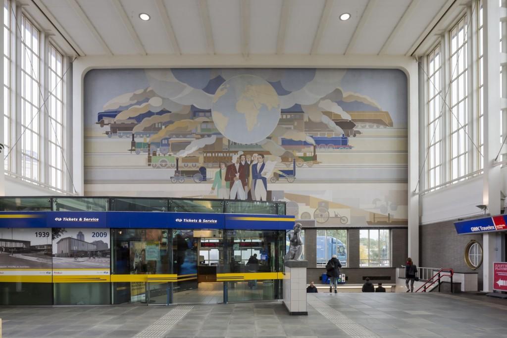 Peter Alma, wandschildering Amstelstation, foto Luuk Kramer