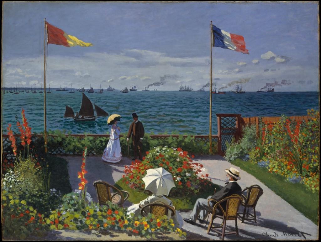 Claude Monet, Garden at Sainte-Adresse, 1867, collectie Metropolitan Museum of Art
