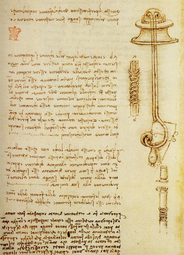 Leonardo da Vinci, tekening duikpak