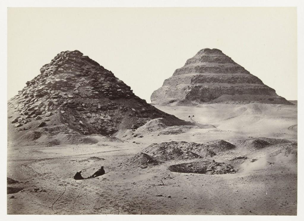Francis Frith (1822-1898), De piramiden van Sakkara, Egypte, Rijksmuseum, Amsterdam