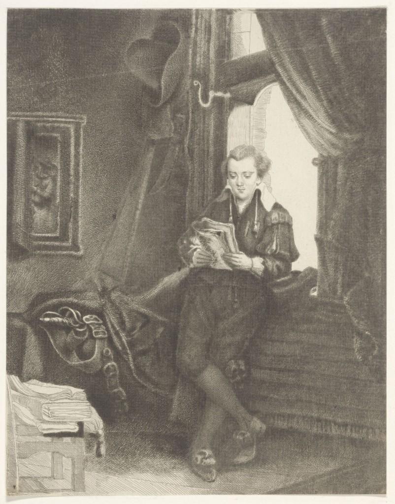 Thomas Worlidge, Edward Astley as Jan Six, 1762, particuliere collectie