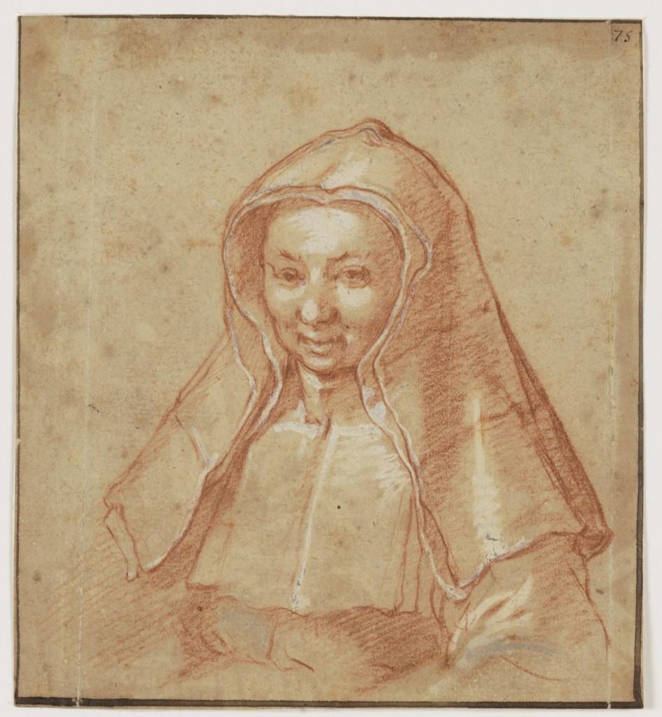 Abraham Bloemaert (1564-1651), Portret van een mon (mogelijk Barbara Bloemart, de halfzuster van de kunstenaar, ca 1612, Teylers Museum, Haarlem
