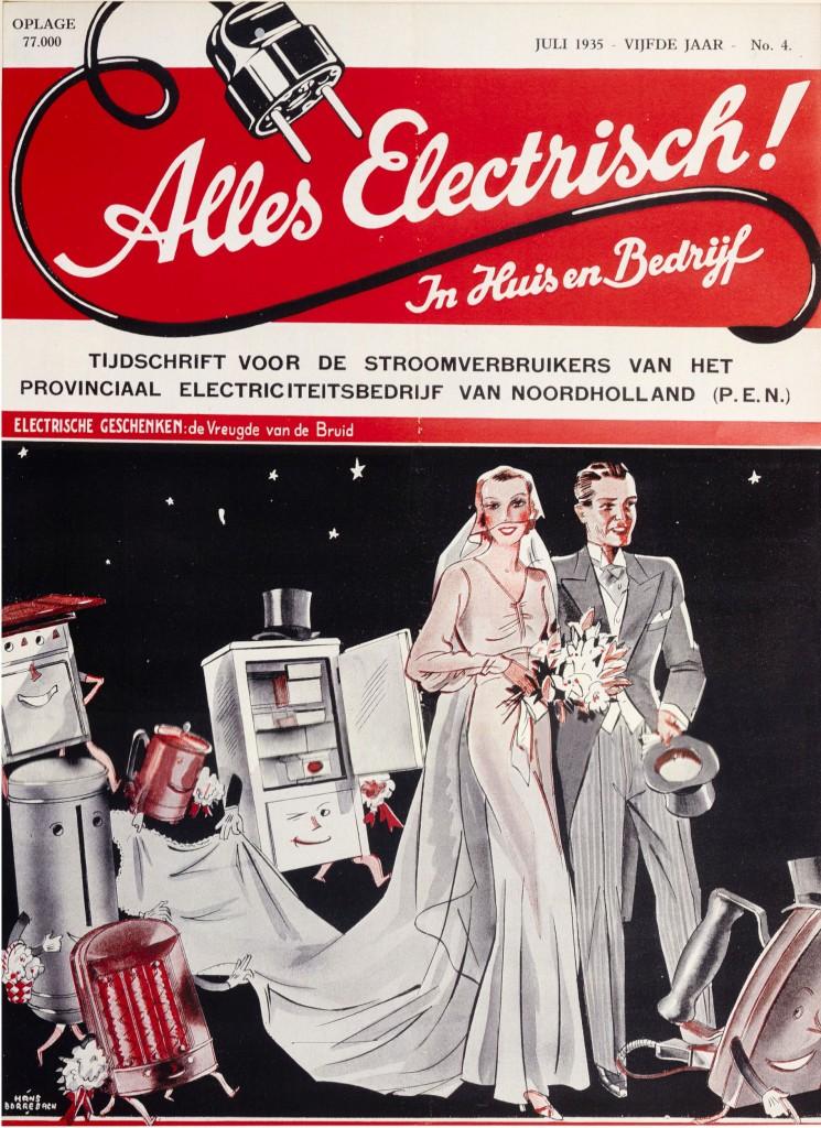 Cover Tijdschrift voor de Stroomverbruikers van het Provinciaal Electriciteitsbedrijf van Noordholland, 1935