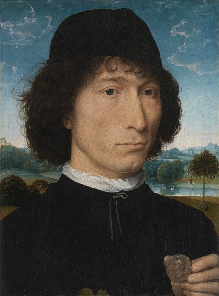 Hams Memling, Portret van Bernardo Bembo, c. 1471-1474, paneel, 31 x 23,3 cm. Koninklijk Museum voor Schone Kunsten Antwerpen