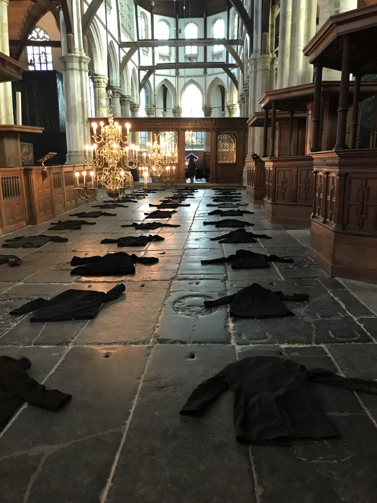 Expositie Christian Boltanski,Oude Kerk, eigen foto