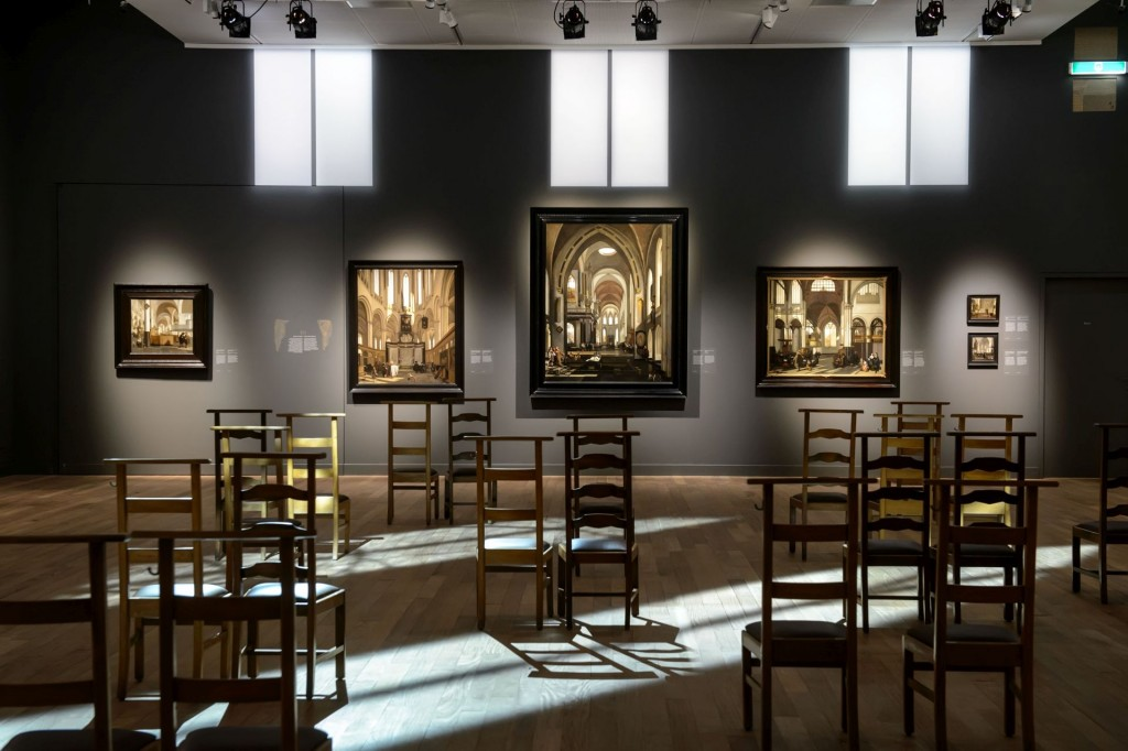 Impressie ontwerp Jelena Stefanovic De Witte-expositie Stedelijk Museum Alkmaar, foto Mike Bink