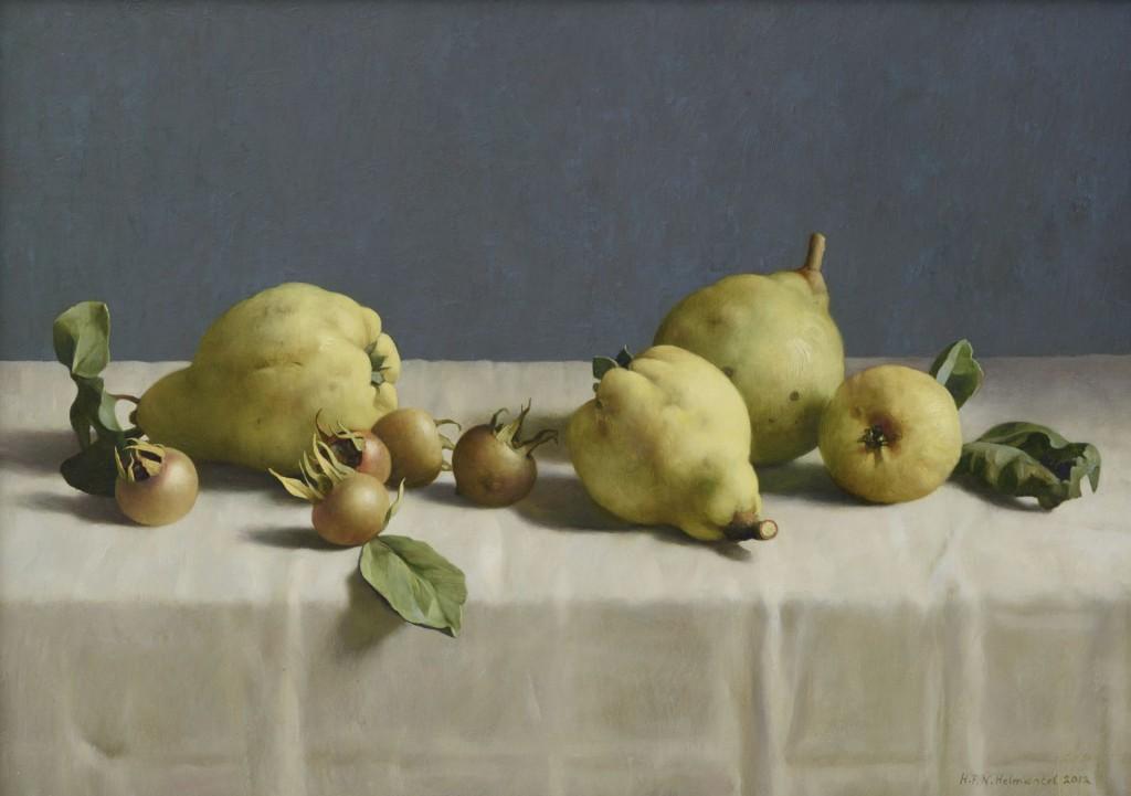 HenkHelmantel, Stilleven met kweeperen, 2012, collectie Museum More