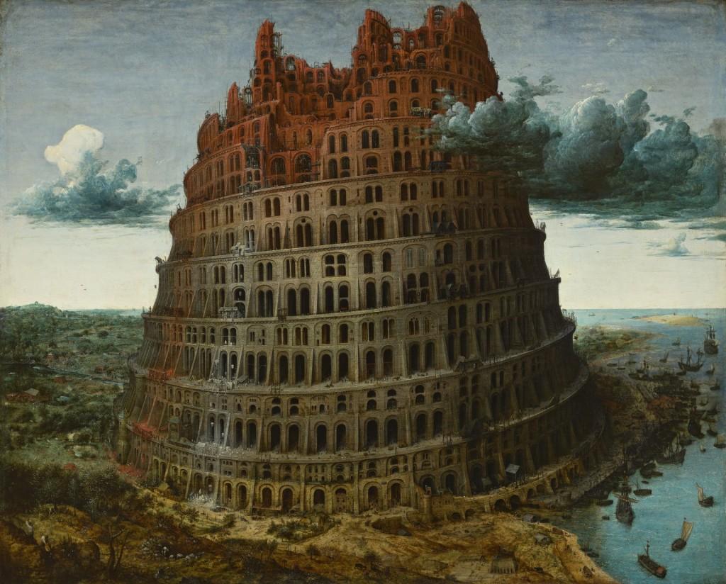 Piieter Bruegel, De toren van Babel', circa 1568, Museum Boijmans Van Beuningen