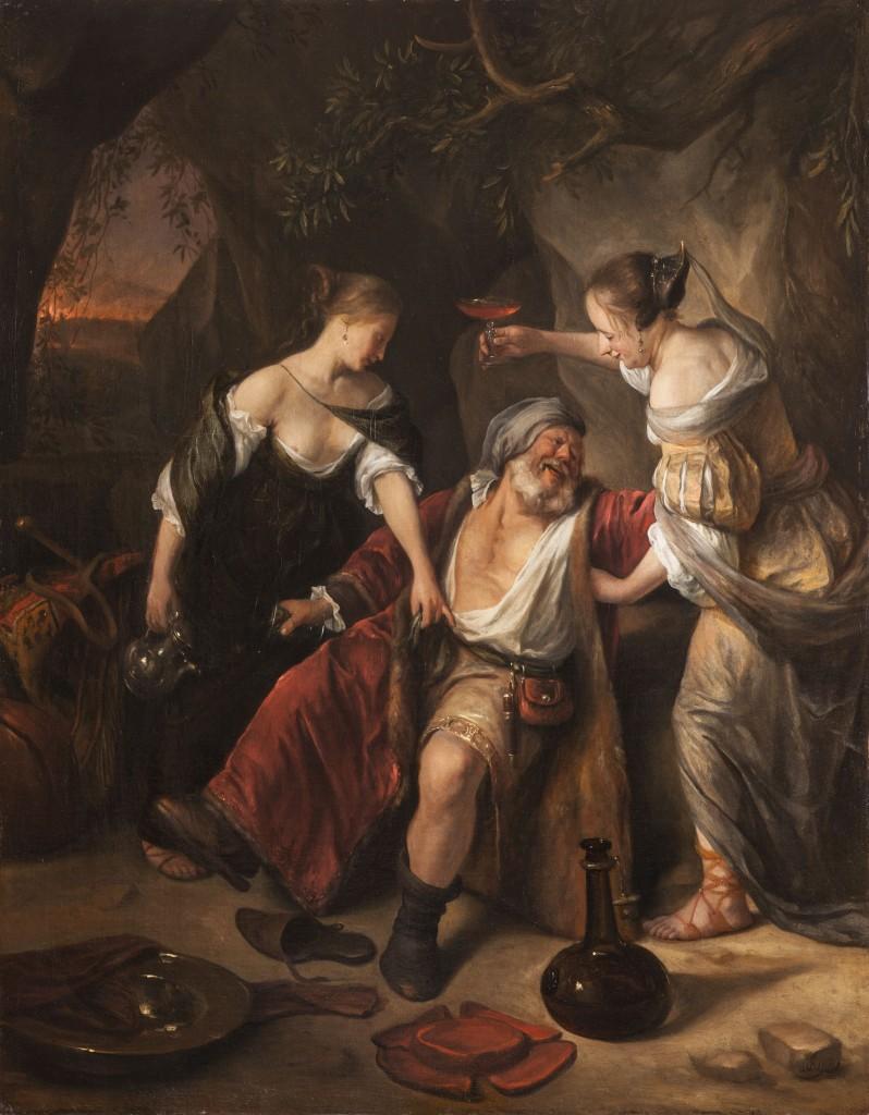 Jan Steen, Lot en zijn dochters, c 1665-1667, doek 86 x 69 cm, Städtische Weissenberg-Galerie, Konstanz