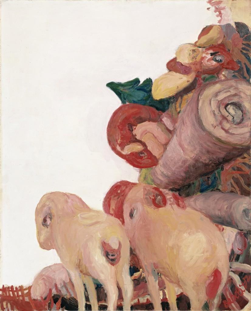 Georg Baslitz, Sommermorgen, 1964, MKM Museum Küppersmühle für Moderne Kunst, Duisburg, Sammlung Ströher, C Georg Baselitz, 2018, Foto: Galerie Michael Werner, Köln