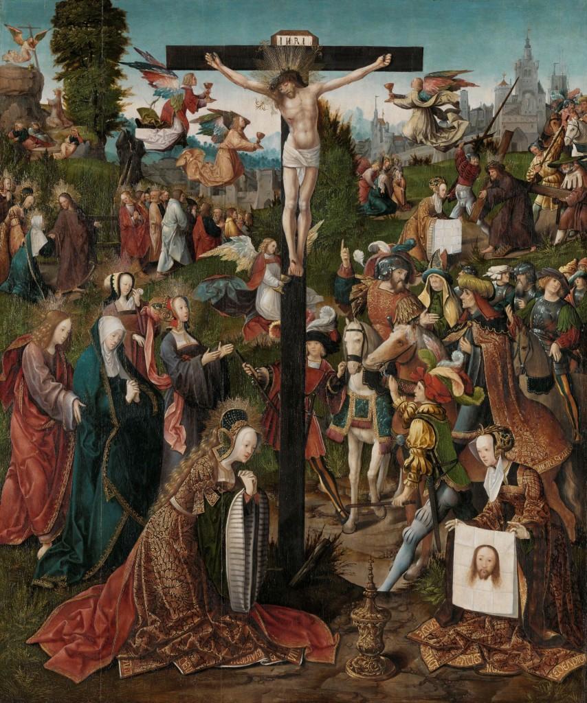 De kruisiging, Jacob Cornelisz. van Oostsanen, ca. 1507 - ca. 1510, olieverf op paneel