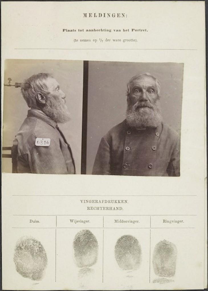 Signalementskaart van Gerrit Lut, een van de 'paupers' uit Veenhuizen